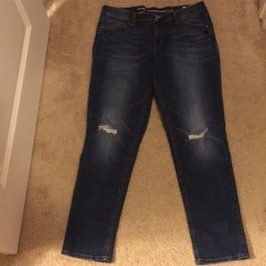 Old navy boyfriend distressed jeans